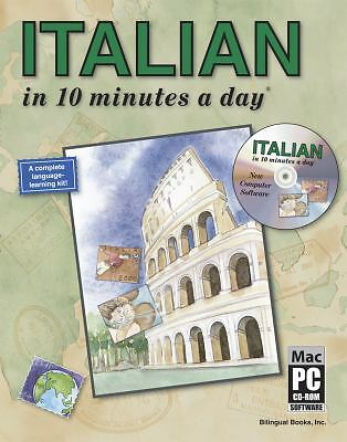 ITALIAN in 10 minutes a day with CD-ROM, Kristine K. Kershul, Good Book