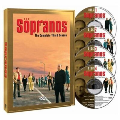 THE SOPRANOS The Complete Third Season 3  DVD - 4 Disc Set, Nice Condition