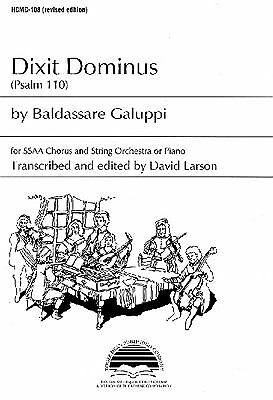 Dixit Dominus: Psalm 110, , Very Good Book