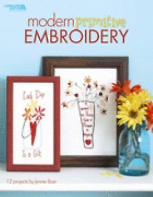 Modern Primitive Embroidery  (Leisure Arts #4424), Jennie Baer, Good Book