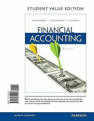 Financial Accounting, Student Value Edition (9th Edition), Thomas, C. William, H