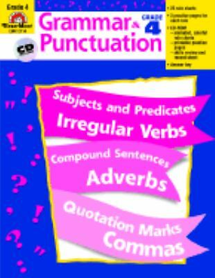 Grammar and Punctuation, Grade 4, Evan Moor, Acceptable Book