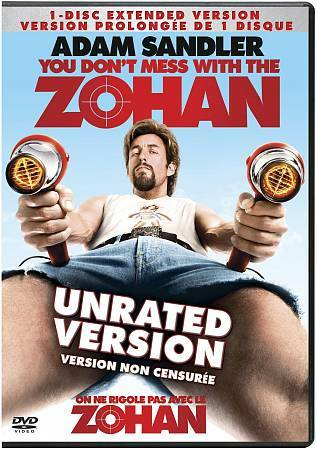 You Don't Mess With the Zohan (DVD) UNRATED VERSION, Adam Sandler