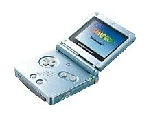 Nintendo Game Boy Advance SP Pearl Blue Handheld System