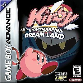 Gameboy Advance Game GBA SP DS KIRBY NIGHTMARE IN DREAM LAND Mega Fun for All