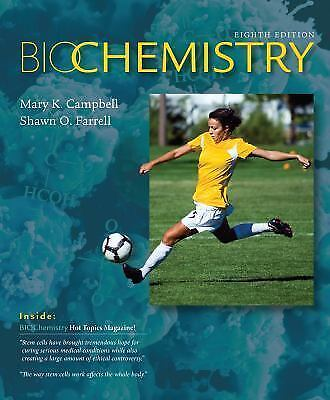 Biochemistry by Campbell and Farrell (2015, Hardcover, Instructor edition)
