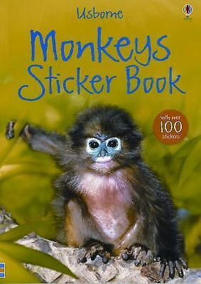 Usborne Monkeys Sticker Book (Usborne Sticker Books) by Howell, Laura