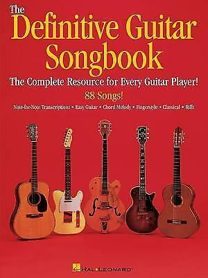 The Definitive Guitar Songbook by Hal Leonard Corp.