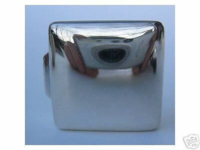 STERLING SILVER PLAIN SQUARE  EMBOSSED PILL BOX  - NEW