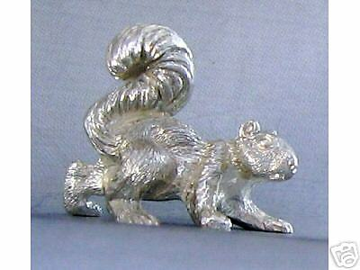 NEW SUPERB MINIATURE STERLING SILVER SQUIRREL FIGURINE
