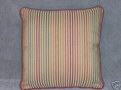 Autumn Colors Stripe Throw Pillow Accent Pillows Gold Rust Green Square
