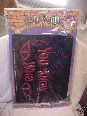 "HARRY POTTER ""YOU KNOW WHO"" TIN SIGN"