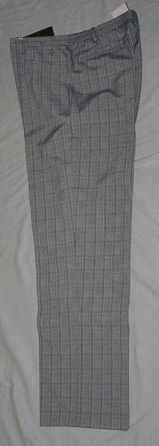 Green Lamb Gray Golf Slacks        63% Polyester/35% Rayon/2% Spandex        NWT
