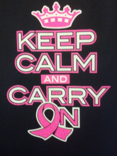 Keep Calm Carry On Breast Cancer Awareness Support Cure Pink Ribon Sweatshirt