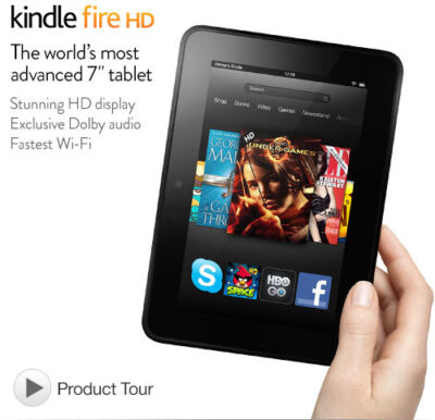 Certified Refurbished Amazon Kindle Fire HD, 7in 16GB Wi-Fi  + FREE 1Yr WARRANTY