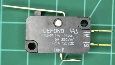 125VAC 11A, 250VAC 6A, 150VDC 0.5A, 1/3HP SPDT Defond Microswitch