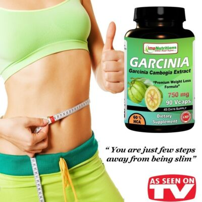 GARCINIA CAMBOGIA EXTRACT 1500mg WITH POTASSIUM CALCIUM & HCA 60%, 90 V Caps