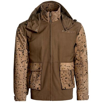 New $1000 Mens LORO PIANA Waterproof Windproof Camo Hooded Storm Jacket Raincoat