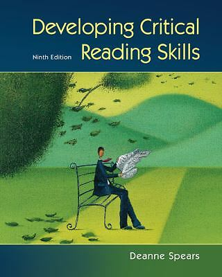 Developing Critical Reading Skills, Spears, Deanne, Acceptable Book