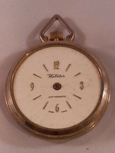 VINTAGE WEBSTER ANTI MAGNETIC SWISS MADE POCKET WATCH FOR PARTS OR FIX