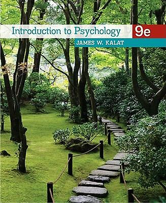 Introduction to Psychology 9th Edition by James W. Kalat (2010, Paperback)