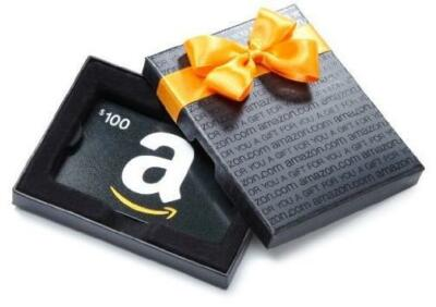 $100 Amazon Gift Card in a nice Box, Fast 1-day Shipping!