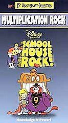 Schoolhouse Rock! - Multiplication Rock VHS, 1998, Clam Shell Case Vhs Video