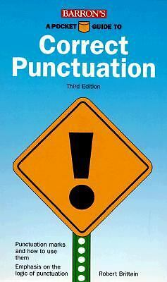 Barron's Pocket Guide to Correct Punctuation - Robert Brittain - PB