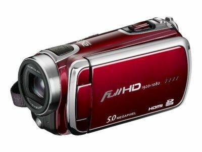DXG Pro Gear DXG-5F0V 1080P 5 MegaPixel Camcorder with 16GB Memory Card - Red