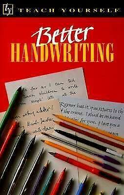 Better Handwriting (Teach Yourself Series) by