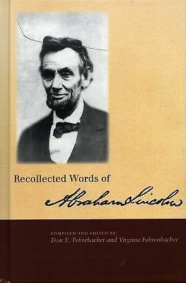 Recollected Words of Abraham Lincoln, , Good Book