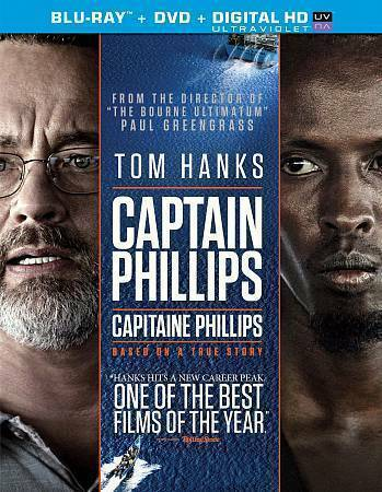 Captain Phillips (Blu-ray/DVD, 2014, 2-Disc Set,) With Digital Copy