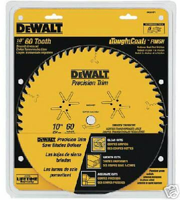 "DEWALT DW3215PT Precision Trim, 10"", 60 Tooth Saw Blade"