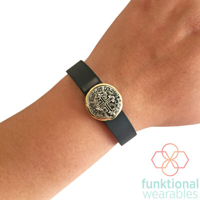Charm to Accessorize Fitbit or Jawbone Fitness Trackers - The FAITH IN YOU Charm
