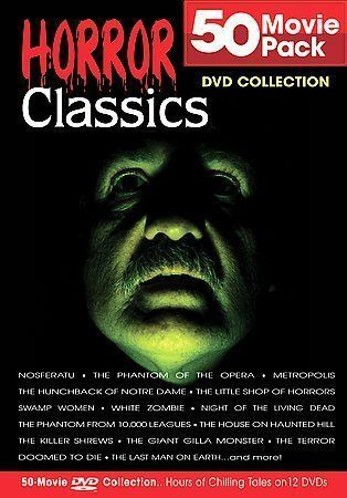 Horror Classics 50 Movie Pack Collection DVDs-Good Condition
