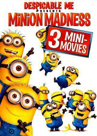 DESPICABLE ME- MINION MADNESS! 3 MINI MOVIES. BRAND NEW SEALED. FAMILY FUN GIFT!