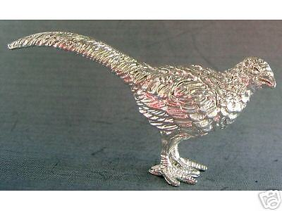 NEW MINIATURE STERLING SILVER FEMALE PHEASANT FIGURINE