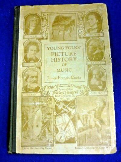YOUNG FOLKS PICTURE HISTORY OF MUSIC JAMES COOKE OLD