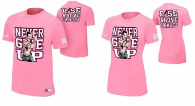 WWE Authentic John Cena Rise Above Cancer T-Shirt - Mens or Womens - BRAND NEW