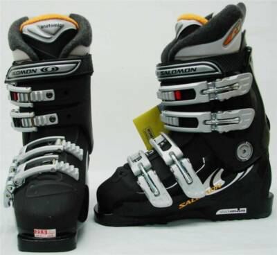 Salomon Performa 7.0 Ladies Downhill Snow Ski Boot Black Size 6.5 Mondo 23.5 NEW