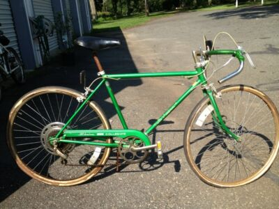 Vintage Schwinn Collegiate Sport Bicycle Bike 5 speed Green NEEDS NEW TIRES
