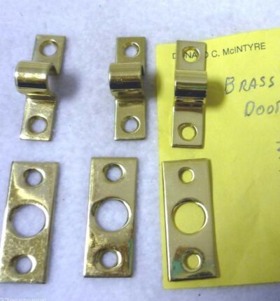 36 FLAT AND 37 RAISED  DEAD BOLT RECIEVER BRASS LOCK PARTS