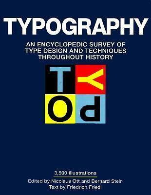 Typography, Friedl, Friedrich, Very Good Book
