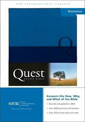 Quest Study Bible, Personal Size (New International Version), Duo-tone Blue/Blue