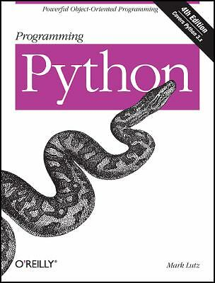 Programming Python, Lutz, Mark, Good Book
