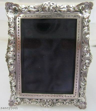 GORGEOUS MINIATURE STERLING SILVER RECTANGULAR FRAME
