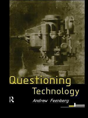 Questioning Technology, Feenberg, Andrew, Acceptable Book