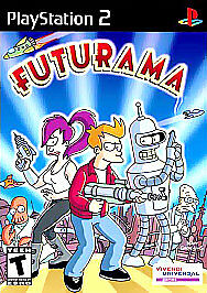 Futurama PlayStation2, Playstation 2 Video Games-Good Condition