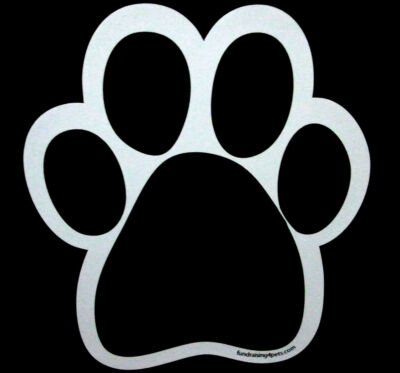 Black Paw Print Car Magnet For Charity Rescue