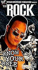 WWF - THE ROCK - KNOW YOUR ROLE - BRAND NEW SEALED VHS 1999
